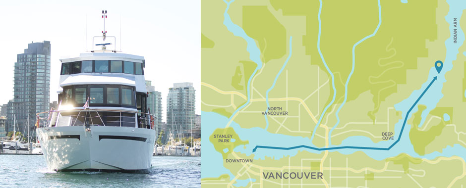 Pacific Yacht Charters routes map